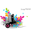 Abstract with city vector image