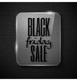 Black friday announcement in glass frame on techno vector image
