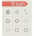 black refresh icon set vector image