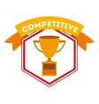 competitive spirit design vector image