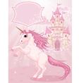 fairy tale castle and unicorn vector image
