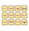 great set of yellow emotions emoji for web anger vector image