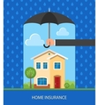 Home protection plan concept vector image