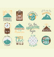 vintage typography travel motivation badge nature vector image