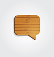 Wooden speech bubbles vector image