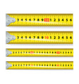 yellow measure tape measure tool equipment vector image