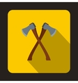 2 axe icon flat style vector image