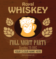 Royal Whiskey Gold Flyer vector image