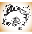 halloween hand drawn background vector image vector image