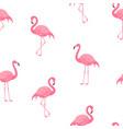 pink flamingos pattern vector image vector image