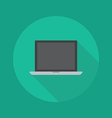 Technology Flat Icon Laptop vector image vector image