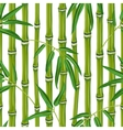 Seamless pattern with bamboo plants and leaves vector image vector image