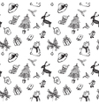 Black and white Christmas vector image