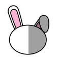 bunny faceless cartoon vector image