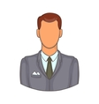 Businessman icon in cartoon style vector image