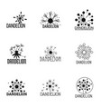 dandelion icons set simple style vector image