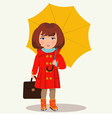 girl with an umbrella vector image