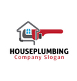 House Plumbing Design vector image