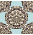 Seamless pattern with mandala circular elements vector image