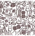 Pattern With Accessories For Sewing vector image