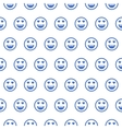 Cute smiley face in love face seamless outline vector image