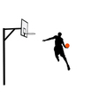 Basketball player slam dunking vector image vector image