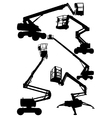 Articulated boom lifts vector image vector image