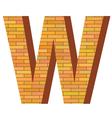 brick letter W vector image