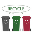 happy recycle message vector image vector image