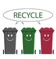 happy recycle message vector image