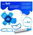 blue bubble for speech vector image vector image