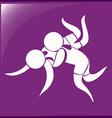 Sport icon design for wrestling vector image
