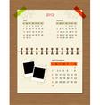 calendar2012 september vector image