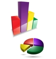 3d graph icons vector image vector image