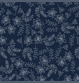 christmas botanical seamless pattern with holly vector image