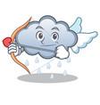 cupid rain cloud character cartoon vector image