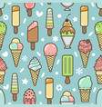 cute colorful ice cream seamless pattern vector image
