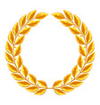 realistic gold laurel wreath for vector image