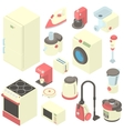 Household appliance icons set cartoon style vector image