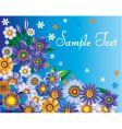 floral background template vector image vector image