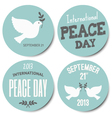 peace day symbols stickers collection vector image vector image