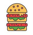 burger hamburger fast food bistro sandwich vector image