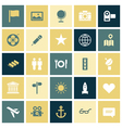 Flat design icons for travel and leisure vector image vector image