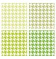 Tile green houndstooth background set vector image