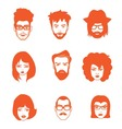 CHARACTERS FACES vector image vector image