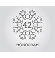 Monogram Design Template with Number Premium vector image