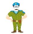 Military officer comando vector image