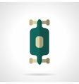 Longboard flat color design icon vector image