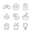 line icons Set of Alternative Medicine Icons vector image