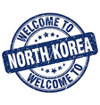 welcome to North Korea vector image
